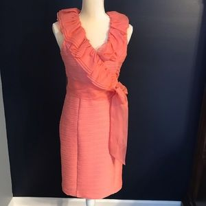 NUE by Shani pink coral sheath dress size 6